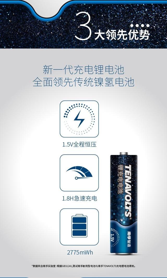 传统镍氢尴尬了 南孚发布全新充电锂电池